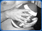 football close up hands holding