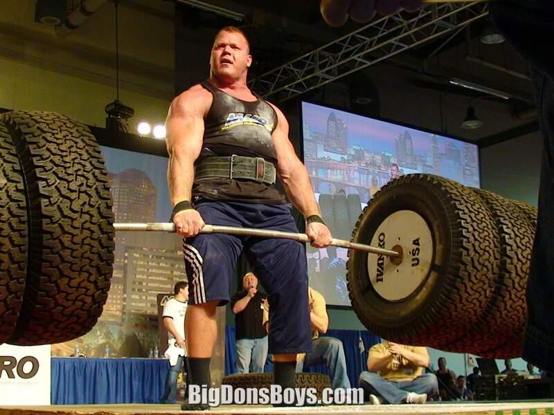 Strongman Derek Poundstone galleryDerek Poundstone Bench