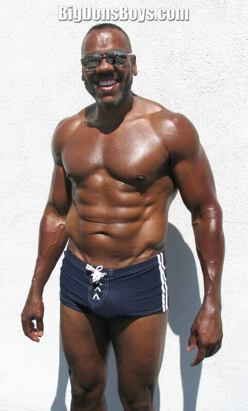 Tall Black Bodybuilder Big Mike-8014